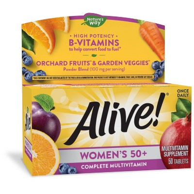 Nature's Way Alive! Women's 50+ Multivitamin Tablets - 50ct