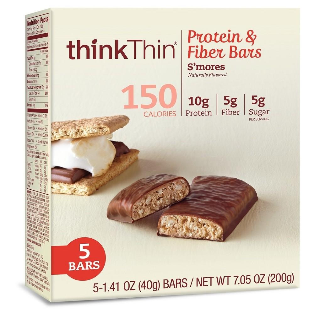 thinkthin Protein & Fiber Bar S'Mores - 1.41oz/5ct