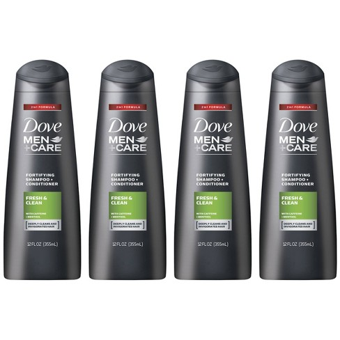 Dove Men Care Fresh Clean 2 In 1 Body Wash Shampoo 4pk 12 Fl Oz Each Target