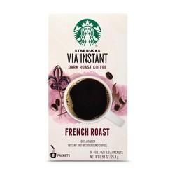 Starbucks VIA Instant French Roast Dark Roast Coffee - 8ct