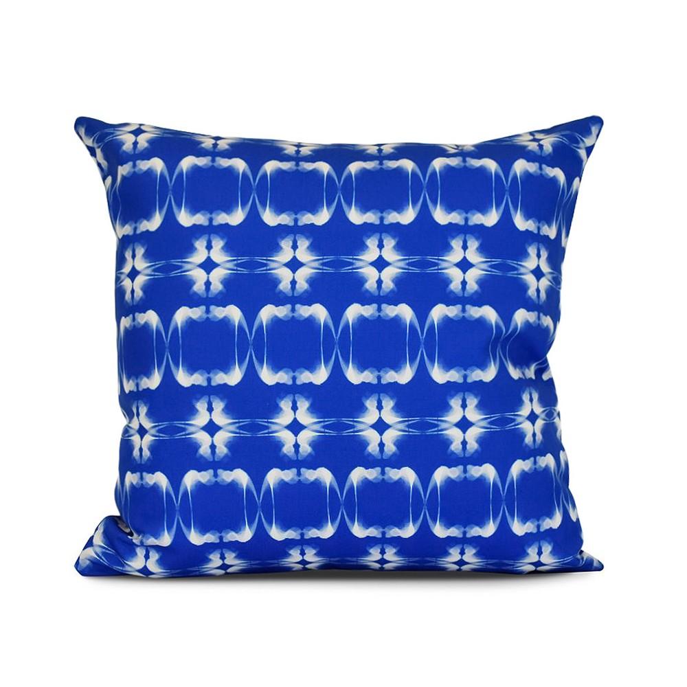 "Image of ""Blue Summer Picnic Print Pillow Throw Pillow (16""""x16"""") - E by Design"""