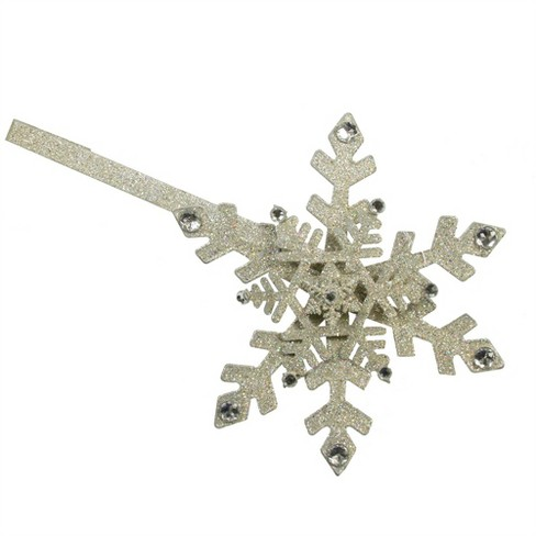 """Sterling 17"""" Shimmering Glitter Drenched Gold Snowflake Christmas Wreath Door Hanger - image 1 of 1"""