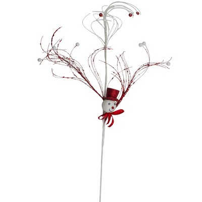 """Darice 37.5"""" Red and White Snowman Christmas Spray"""