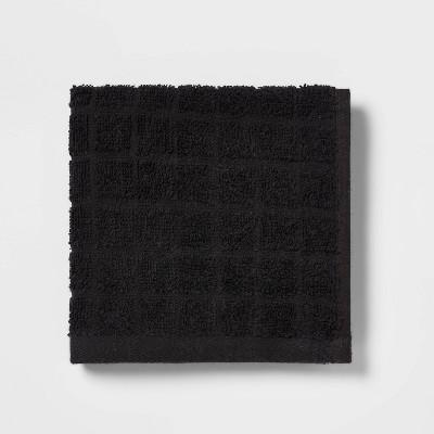 Grid Texture Washcloth Black - Room Essentials™