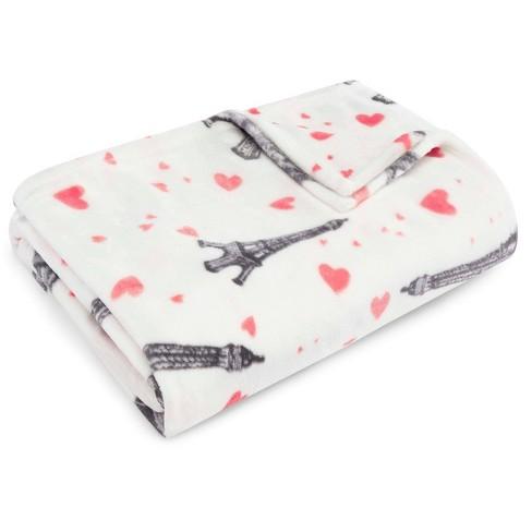 Paris Love Throw Blanket Pink - Betseyville - image 1 of 3