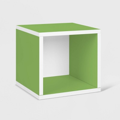 Way Basics Stackable Eco Cube Storage Cubby Organizer Green