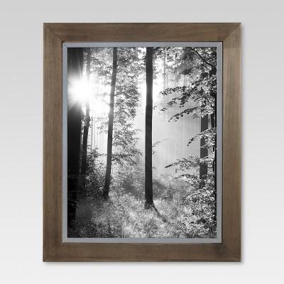 Raw Wood with Metal Edge Frame - Threshold™