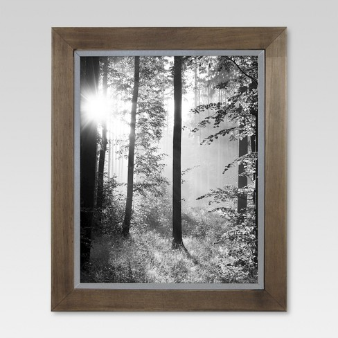 Raw Wood with Metal Edge Frame - Threshold™ - image 1 of 5