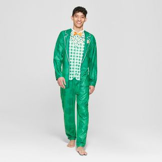 Men's Leprechaun Union Suit - Green XL