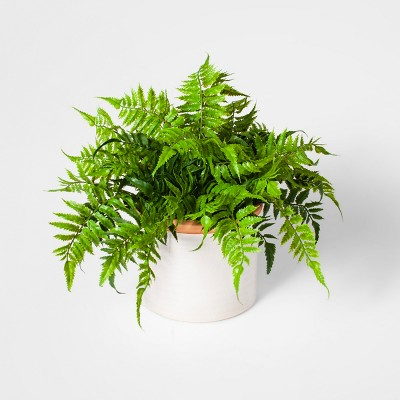 15  Potted Artificial Boston Fern Green - Threshold™