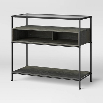 Fulham Glass Top Console Table With Wood Shelves - Project 62™ : Target