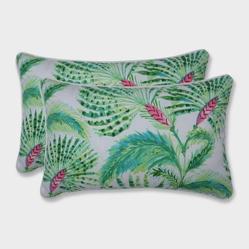 2pk Shake and Stir Rectangular Throw Pillows Green - Pillow Perfect - image 1 of 1
