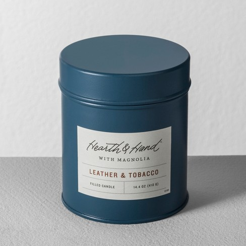 Tin Candle Leather Tobacco - Hearth & Hand™ with Magnolia - image 1 of 3