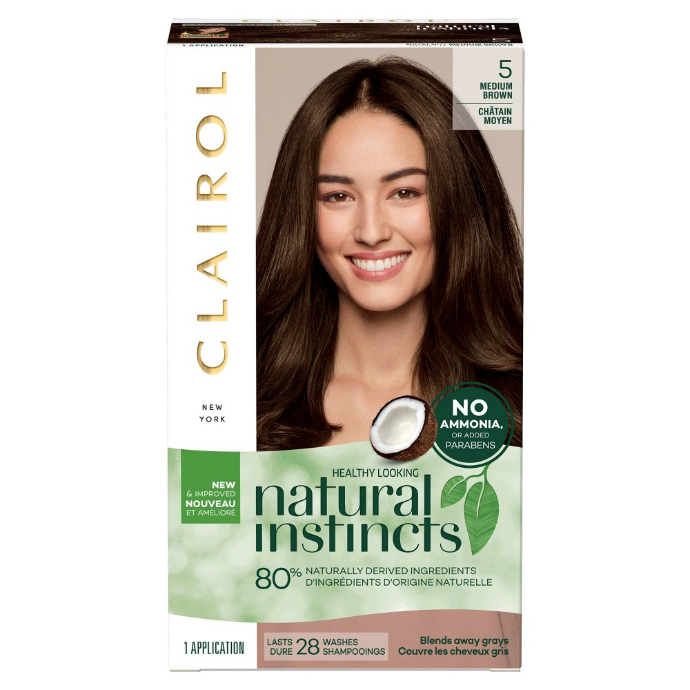 Image of Natural Instincts Clairol Non-Permanent Hair Color - 5 Medium Brown, Hazelnut - 1 Kit