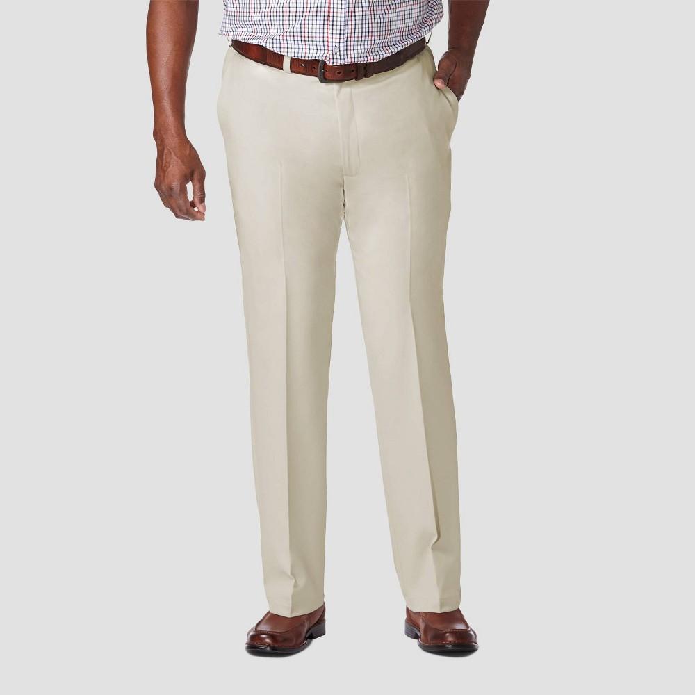 Compare Haggar Men's Big & Tall Cool 18 PRO Classic Fit Flat Front Casual Pants -