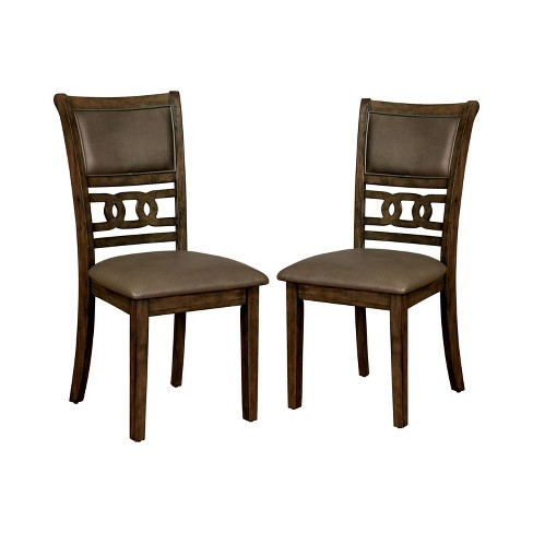 Set of 2 Harper Cushioned Wood Dining Side Chair Walnut - ioHOMES - image 1 of 4