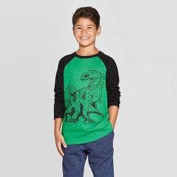 Boys' Long Sleeve Graphic T-Shirt - Cat & Jack™ Green