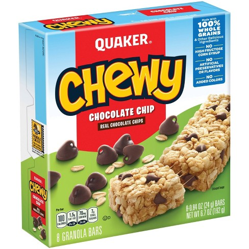 Quaker Chewy Chocolate Chip Granola Bars - 8ct - image 1 of 4