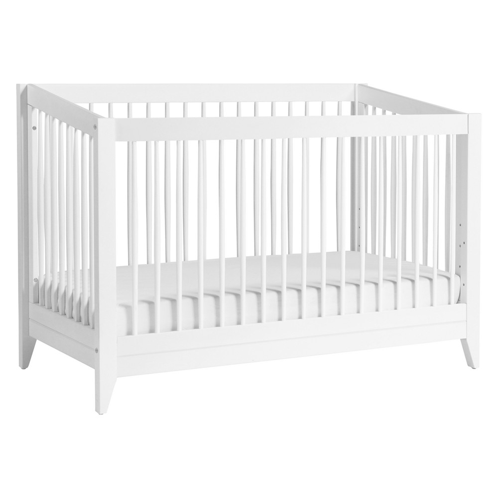 Babyletto Sprout 4-in-1 Convertible Crib with Toddler Bed Conversion Kit - White