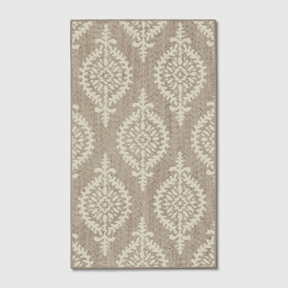 Paisley Tufted Accent Rugs Gray