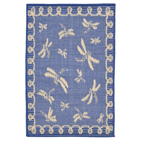 Terrace Dragonfly Marine Rug - Liora Manne - image 1 of 1