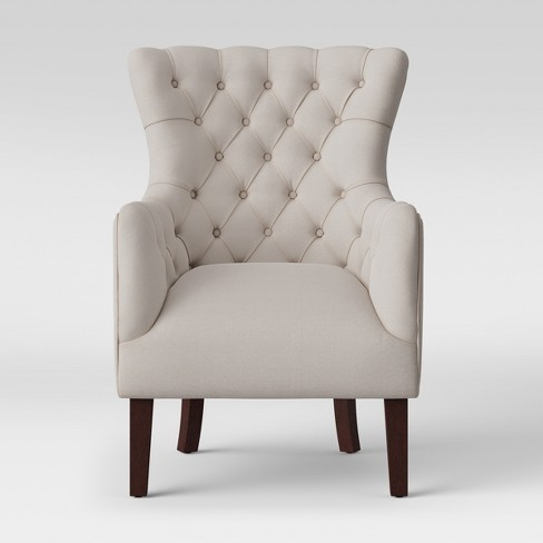 Accent Chairs.Jonesport Tufted Wingback Arm Accent Chair Beige Threshold