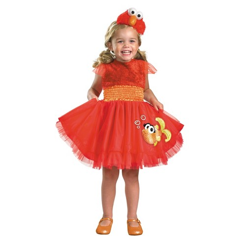 Girls' Sesame St Elmo Frilly Costume 12-18 Months - image 1 of 1