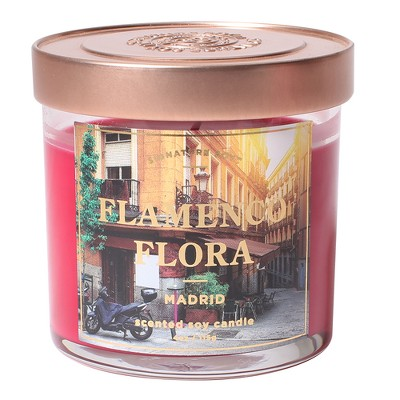 Small Glass Jar Candle Flamenco Flora 4.1oz - Signature Soy
