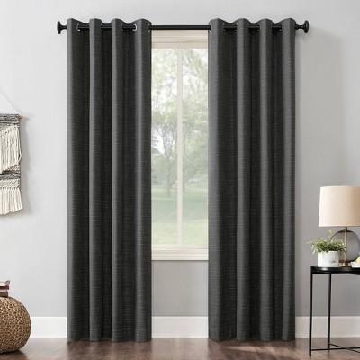Kline Burlap Weave Thermal 100% Blackout Grommet Top Curtain Panel - Sun Zero