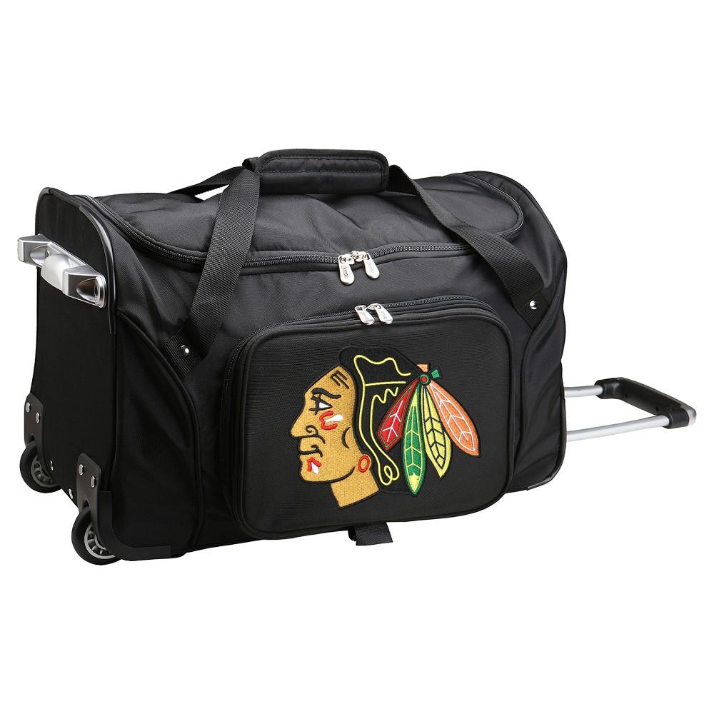 NHL Mojo Chicago Blackhawks 22 Rolling Duffel Bag - Black