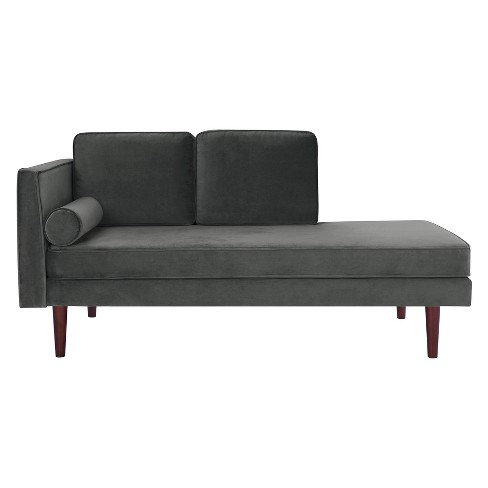 Nora Upholstered Daybed Gray Velvet Twin - Room & Joy - image 1 of 7