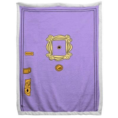 """60""""x90"""" Friends Door Sherpa Blanket"""