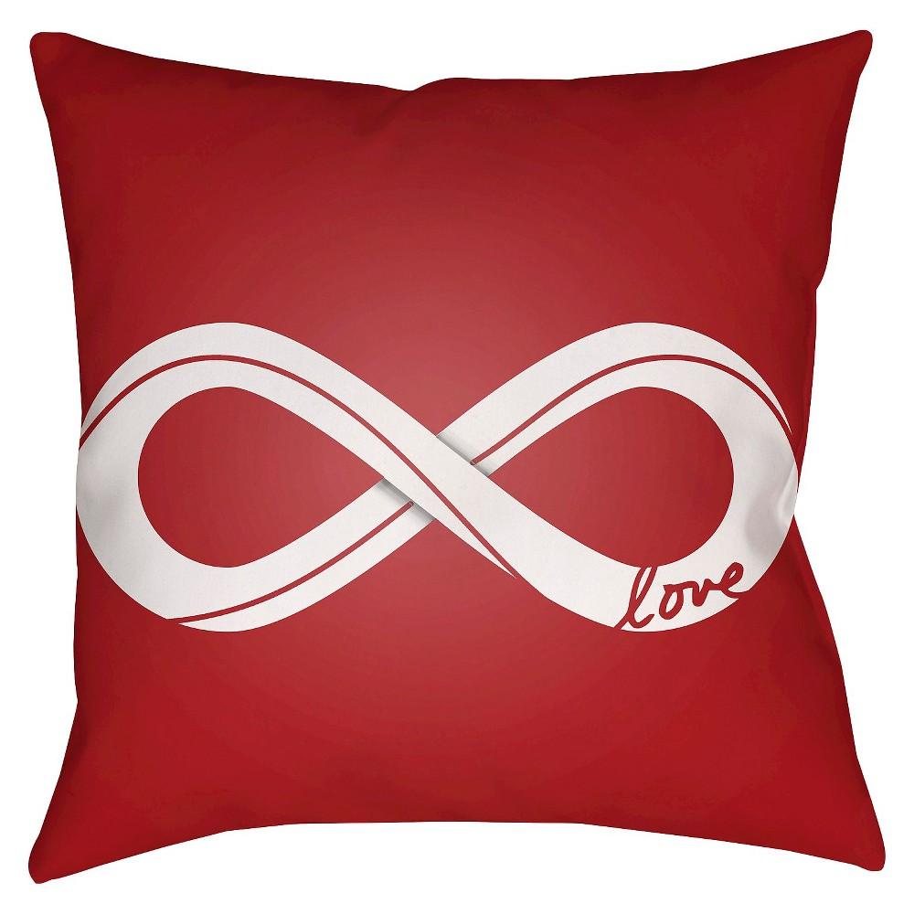 Red Infinite Love Throw Pillow 18