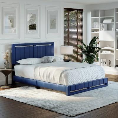 Sloan Vertical Stitched Upholstered Platform Bed - Eco Dream