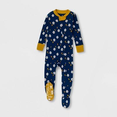 Honest Baby Girls' Falling Flowers Pajama Set - Navy