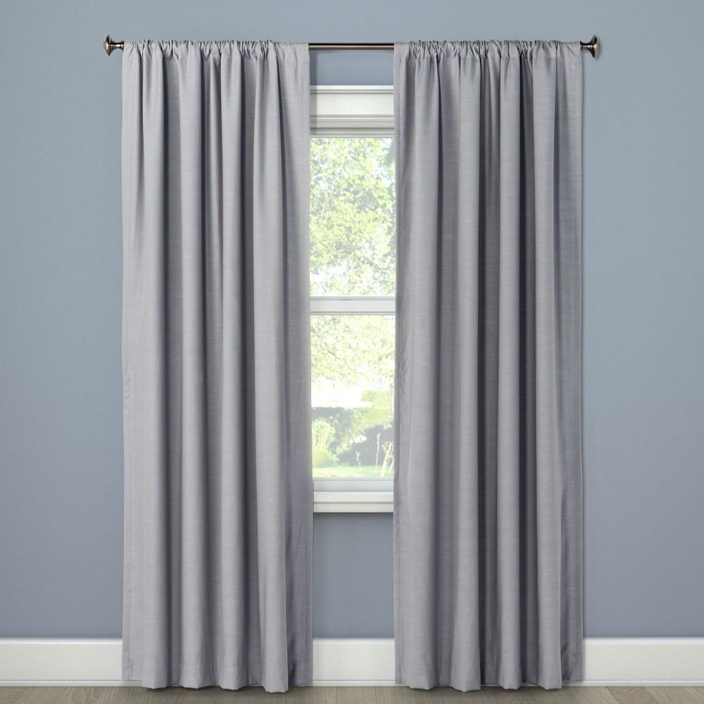 "Image of ""Blackout Curtain Panel Masonry Gray 63"""" - Project 62"""