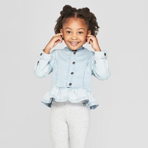082e3302c1c2 Toddler Girls  Ombre Denim Jacket - Genuine Kids® From OshKosh Blue ...