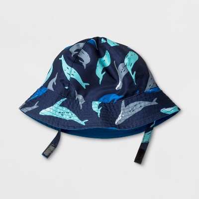 Baby Boys' Whales Bucket Hat - Cat & Jack™ Blue 6-12M