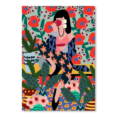 Americanflat Girl Drinking Tea by Studio Grand-Pere Poster