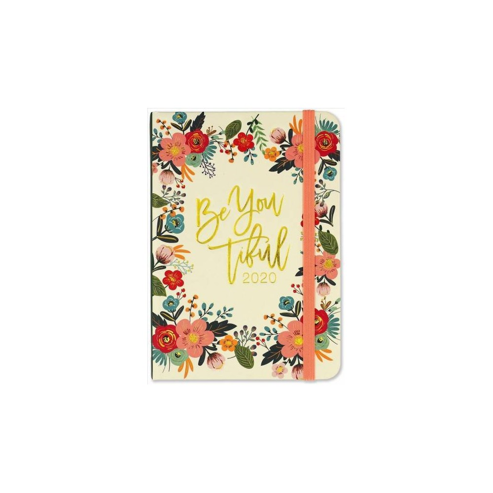 Floral Frame Weekly 2020 Planner - (Hardcover)