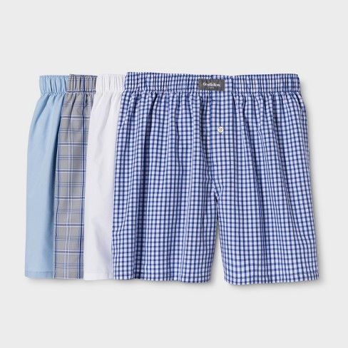 Men's Striped Woven Boxer Shorts 4pk - Goodfellow & Co™ Colors May Vary - image 1 of 1