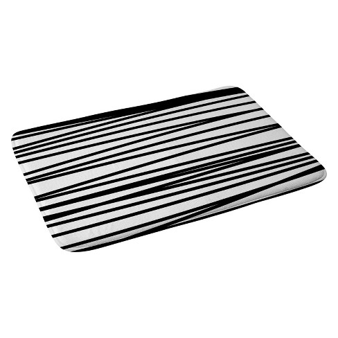 "Khristian A Howell Crew Stripe BW Bath Rugs and Mats White 24"" x 36"" - Deny Designs - image 1 of 2"