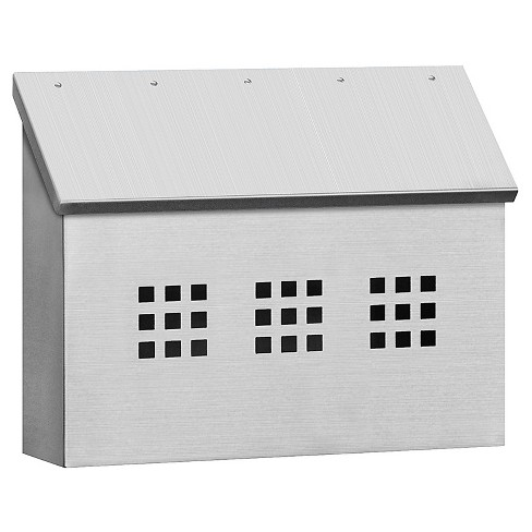 Decorative Standard Horizontal Mailbox – Stainless Steel - image 1 of 3