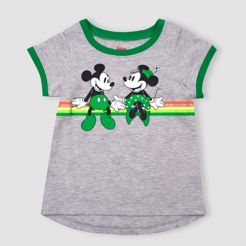 08c17e65f Toddler Girls' Disney Mickey Mouse & Friends Minnie Mouse Short Sleeve  T-Shirt - Gray