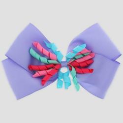 be86c927bac4 Girls' Curly Ribbon Bow Clip - Cat & Jack™ Purple : Target