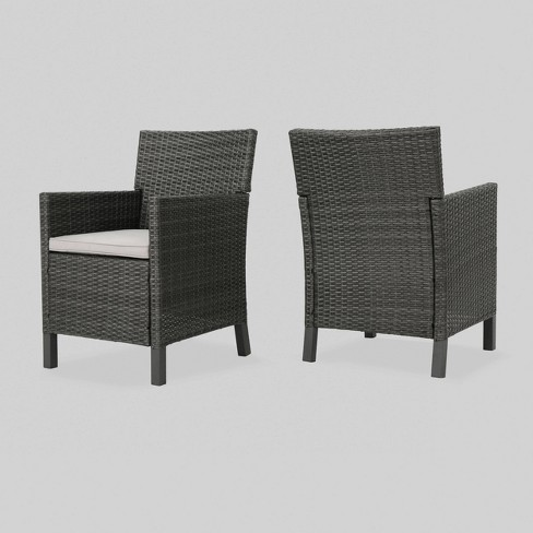 Pleasant Cypress 2Pk Wicker Dining Chairs Christopher Knight Home Gmtry Best Dining Table And Chair Ideas Images Gmtryco