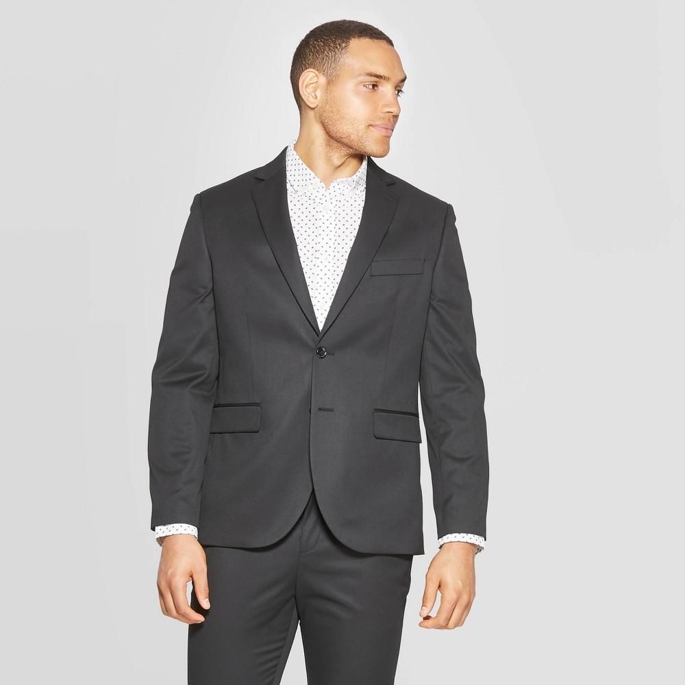 Mens Standard Fit Suit Jacket - Goodfellow & Co Black 42S Best