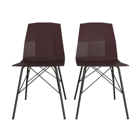 Set of 2 Riley Molded Dining Chair - CosmoLiving by Cosmopolitan - image 1 of 4