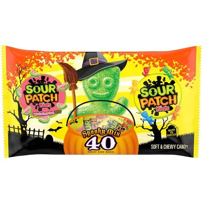 Sour Patch Kids & Sour Patch Watermelon Halloween Candy Variety Pack Treat Size - 22oz/40ct