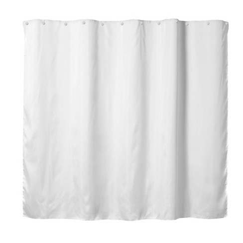 It's A Snap Replacement Shower Curtain Liner Solid Fabric White - Hookless - image 1 of 4